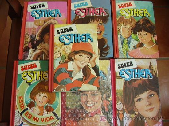 SUPER ESTHER POCKET. COLECCIÓN COMPLETA EN 7 TOMOS. BRUGUERA. ¡¡DIFÍCIL!! (Tebeos y Comics - Comics Colecciones y Lotes Avanzados)