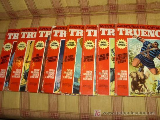 TRUENO COLOR EXTRA ALBUM ROJO 1 2 3 4 5 6 7 8 COMPLETA. BRUGUERA 1969. (Tebeos y Comics - Comics Colecciones y Lotes Avanzados)