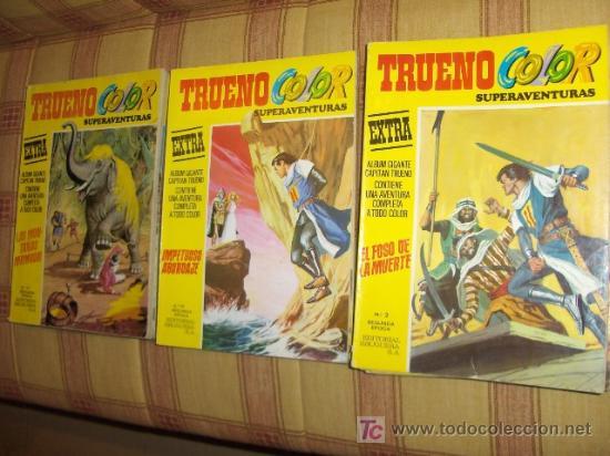 LOTE 11 TRUENO COLOR EXTRA 2ª ÉPOCA CON LOS ÚLTIMOS. BRUGUERA 1975. SE VENDEN SUELTOS!!!!!!!!!!!!!!! (Tebeos y Comics - Comics Colecciones y Lotes Avanzados)
