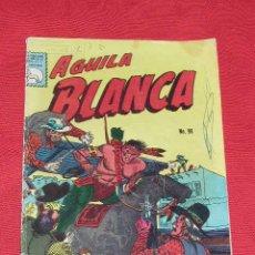 Cómics: AGUILA BLANCA - TAMBORES DE GUERRA EN RIO ROJO - Nº 96 AÑO 1965, ORIGINAL MEJICO, OESTE A COLOR. Lote 26949115