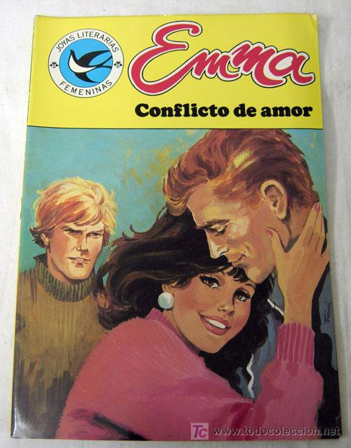 EMMA JOYAS LITERARIAS FEMENINAS Nº 105 CONFLICTO DE AMOR EDITORIAL BRUGUERA 1985 (Tebeos y Comics - Comics Colecciones y Lotes Avanzados)
