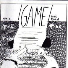 Cómics: COMIC ESCOLAR - GAME Nº3 - SANTA COLOMA DE GRAMANET 1991 *. Lote 7659307