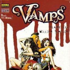 Cómics: VAMPS COLECCION VERTIGO (NORMA) ORIGINAL COLECCION COMPLETA. Lote 27572348