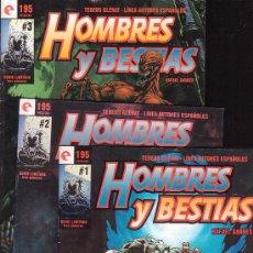 Cómics: HOMBRES Y BESTIAS 3 NUMEROS COLECCION COMPLETA / AUTOR : RAFAEL GARRES. Lote 12974927