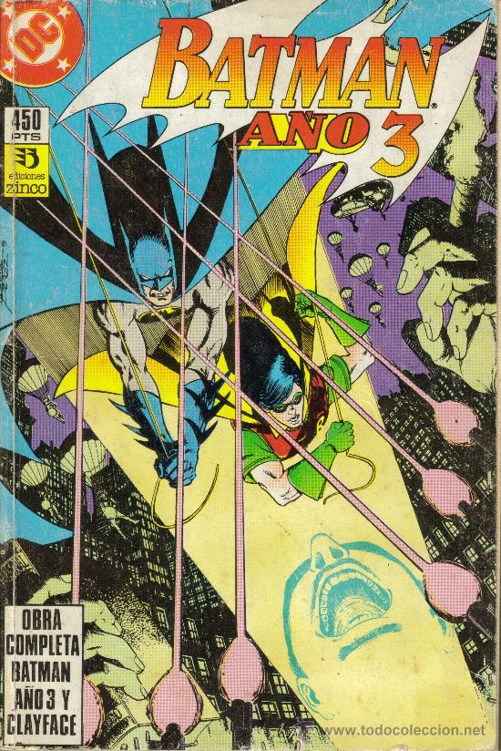 BATMAN. AÑO 3 Y CLAYFACE, OBRA COMPLETA (ZINCO) ORIGINAL1990 (Tebeos y Comics - Comics Pequeños Lotes de Conjunto)