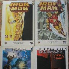 Cómics: 4 TOMOS SUELTOS BIBLIOTECA EL MUNDO IRON MAN 1 Y 3, THOR 1 Y BATMAN 1. Lote 26859389
