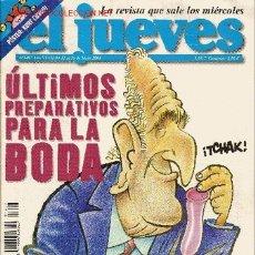 Cómics: 'EL JUEVES', Nº 1407. 12 DE MAYO DE 2004. REY JUAN CARLOS I EN PORTADA.. Lote 17961551