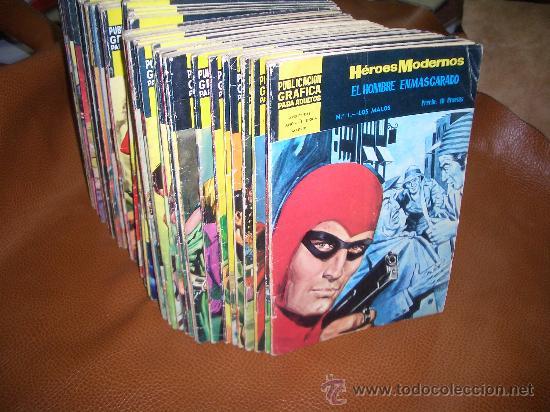 HEROES MODERNOS II EPOCA SERIE AMARILLA COMPLETA (Tebeos y Comics - Comics Colecciones y Lotes Avanzados)