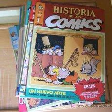 Cómics: HISTORIA DE LOS COMICS. COLECCION COMPLETA DE 48 EJEMPLARES.4 ANEXOS PARA ENCUADERNAR (COIB106). Lote 26294202