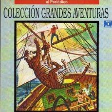 Cómics: DRAMA EN EL PACIFICO - EMILIO SALGARI - COL. GRANDES AVENTURAS Nº1 VOL. 3 - EL PERIODICO. Lote 10321947