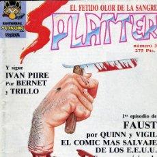 Cómics: SPLATTER Nº3 (HISTORIETAS DE DE ANGELIS, BERNET, TRILLO, BRINDISSI,...). Lote 10686390