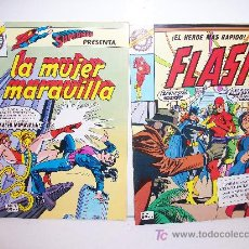 Cómics: EDITORIAL BRUGUERA, LA MUJER MARAVILLA, Nº 1 Y FLASH, Nº 4, (AMBOS DE 1.980). Lote 27262557