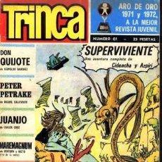 Cómics: TRINCA, Nº 61. EDITORIAL DONCEL, 1973. (FALTAN PÁGINAS 35 Y 36). Lote 12962252