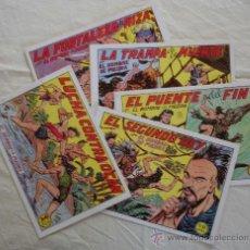 Cómics: EL HOMBRE DE PIEDRA LOTE DE 5 EJEMPLARES Nº DEL 135 AL 139 - VALENCIA - FACSIMIL 1958.. Lote 20162581