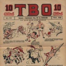 Comics : TBO. Nº 633. AÑO 1929. Lote 21120157