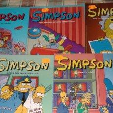 Cómics: LOTE 5 COMICS DE LOS SIMPSON. Lote 27514576