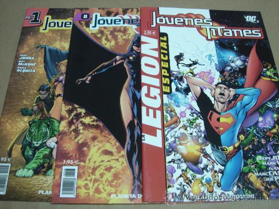 3 COMICS JOVENES TITANES EDICION PLANETA DC NUMEROS 1.8. Y ESPECIAL (Tebeos y Comics - Comics Colecciones y Lotes Avanzados)