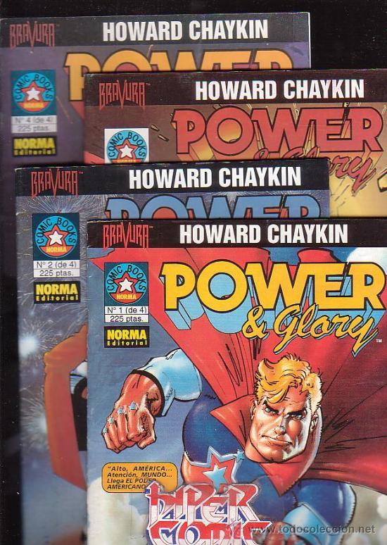 POWER & GLORY - COLECCION COMPLETA EN 4 EJEMPLARES / AUTOR : HOWARD CHAYKIN (Tebeos y Comics - Comics Pequeños Lotes de Conjunto)