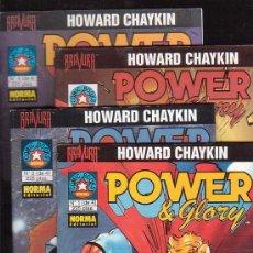 Cómics: POWER & GLORY - COLECCION COMPLETA EN 4 EJEMPLARES / AUTOR : HOWARD CHAYKIN. Lote 13884395