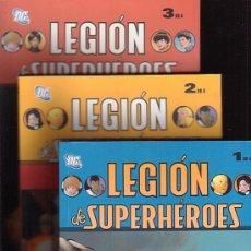 Cómics: LEGION DE SUPER HEROES - LOTE CON LOS TOMOS 1 AL 3. Lote 13292707