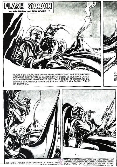 Cómics: El excelente dibujo de Mac Raboy marca una nueva etapa en la saga de Flash Gordon que se extiende desde 1948, año en que sucedió al maestro Raymond, hasta 1967. - Foto 2 - 26630055