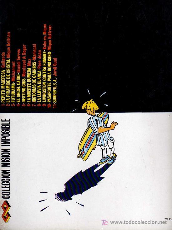 Cómics: SURFIN USA - JORDI GUAL - COL. MISION IMPOSIBLE, EDITORIAL COMPLOT 1988 - Foto 2 - 26990431