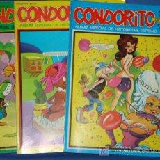Cómics: LOTE CONDORITO DE LUXE * 3 NUMEROS * FOTOS ADICIONALES * . Lote 15021420