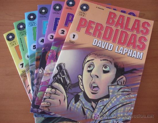 BALAS PERDIDAS. DAVID LAPHAM. LOTE DE 13 NÚMEROS. EDICIONES LA CÚPULA. (Tebeos y Comics - Comics Colecciones y Lotes Avanzados)