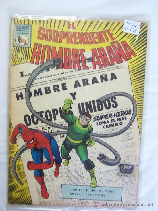 EL SORPRENDENTE HOMBRE ARAÑA - N° 75 - AÑO 1968 - EDITORIAL LA PRENSA (Tebeos y Comics Pendientes de Clasificar)