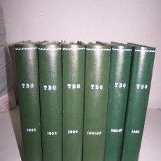 Cómics: T. B. O.-1989 / 1993.- DEL Nº. 1 AL 74.-72 TEBEOS ENCUADERNADOS EN 6 TOMOS EDICIONES B. Lote 15389983