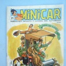 Cómics: MINICAR N. 21, 1966 ,SEMANARIO INFANTIL Y JUVENIL DEL AUTOMOVIL- RECORTABLE ,LANCIA 1908. Lote 43555163