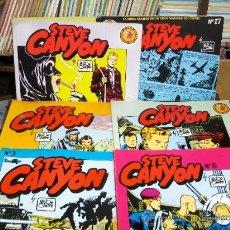 Cómics: STEVE CANYON NºS 3 AL 7, 17 Y 22. EDICIONES S.V. 1988. Y PORTES GRATIS.. Lote 19217291