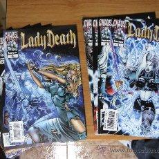 Cómics: LADY DEATH ¡ LOTE 9 NÚMEROS ! CHAOS COMICS / PLANETA - POSIBILIDAD DE NÚMEROS SUELTOS. Lote 42632665