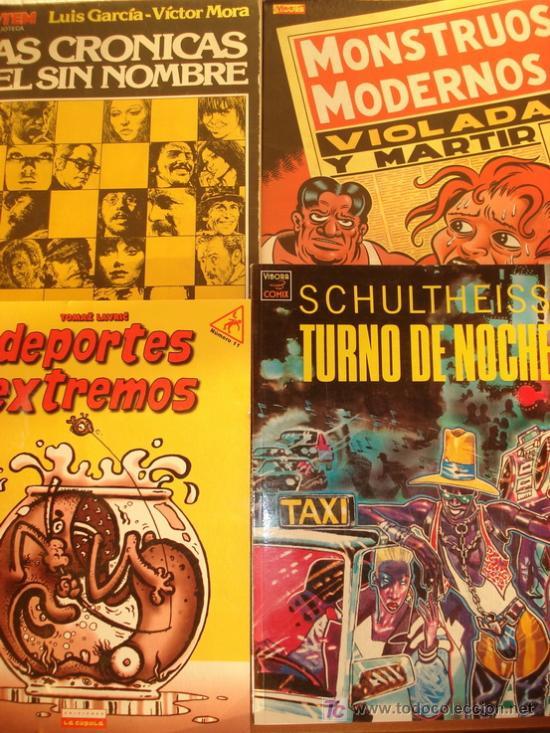 LOTE DE 3 COMICS O ÁLBUMES. DEPORTES EXTREMOS, TURNO DE NOCHE, MONSTRUOS MODERNOS. (Tebeos y Comics - Comics Colecciones y Lotes Avanzados)