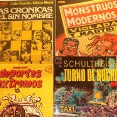 Cómics: LOTE DE 3 COMICS O ÁLBUMES. DEPORTES EXTREMOS, TURNO DE NOCHE, MONSTRUOS MODERNOS.. Lote 27440123