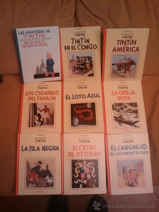 TINTIN B/N FACSIMIL CASTERMAN PANINI COMPLETA, DE HERGÉ (Tebeos y Comics - Comics Colecciones y Lotes Avanzados)