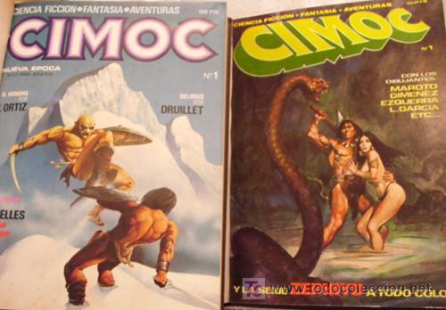 CIMOC DE LA ED SAN ROMÁN - COMPLETA DEL Nº1 AL Nº10. + CIMOC DE LA ED. NORMA DEL Nº1 AL Nº30 (Tebeos y Comics - Comics Colecciones y Lotes Avanzados)