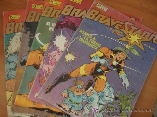 LOTE DE 7 COMICS BRAVESTARR. EL JUSTICIERO CÓSMICO. EDICIONES ZINCO. (Tebeos y Comics - Comics Colecciones y Lotes Avanzados)