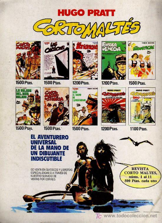Cómics: REVISTA CORTO MALTES Nº 11 - ED. NEW COMIC 1990 - EL ORO DE CUSH - Foto 3 - 20713522