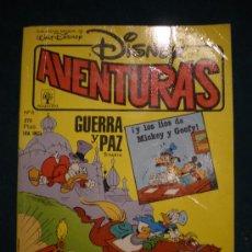 Cómics: DISNEY AVENTURA - GUERRA Y PAZ 1ª PARTE Y LOS LIOS DE MICKEY Y GOOFY -Nº6 -PRIMAVERA-129 PAG. - 1990. Lote 24187829