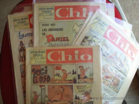 LOTE DE 8 REVISTA INFANTIL SEMANAL , CHIO - 1965 - TAMBIEN SE VENDEN SUELTOS , PREGUNTAR - (Tebeos y Comics - Comics Pequeños Lotes de Conjunto)