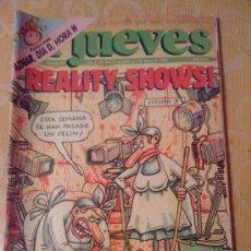 Cómics: 'EL JUEVES', Nº 831. 28 DE ABRIL DE 1993. REALITY SHOWS. INCLUYE PÓSTER DE AZNAR.. Lote 21539398