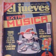 Cómics: 'EL JUEVES', Nº 1333. 11 DE DICIEMBRE DE 2002. EXTRA MÚSICA.. Lote 21539827