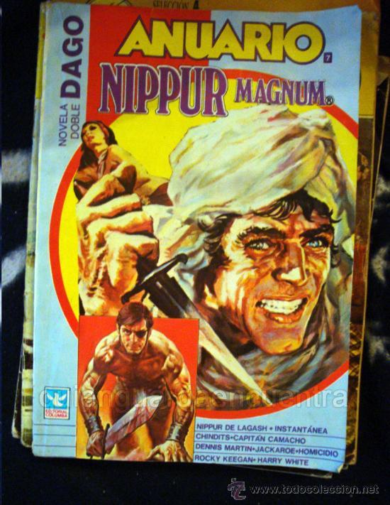 COMIC NOVELA DOBLE DAGO. ANUARIO NIPPUR MAGNUM Nº 7 EDITORIAL COLUMBA 1984 (Tebeos y Comics Pendientes de Clasificar)
