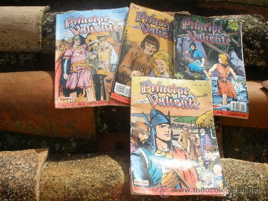 EL PRINCIPE VALIENTE.CUATRO TEBEOS DE EDICION HISTORICA 1988. (Tebeos y Comics - Comics Pequeños Lotes de Conjunto)