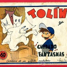 Cómics: TOLIN , CUIDADO CON LOS FANTASMAS , EDITORIAL GUERRI , AVENTURAS DE UN GOLFILLO MADRILEÑO. Lote 24542329