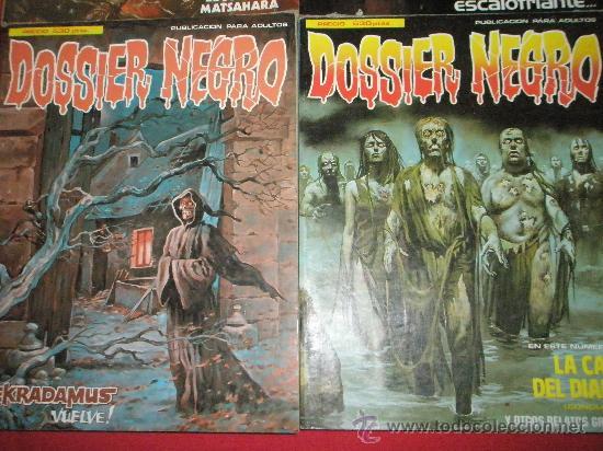 Cómics: 3 COMICS EXTRAS DE DOSSIER NEGRO Nº 1-4-5.-AÑOS 1970. - Foto 2 - 35725905
