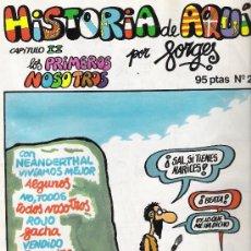 Cómics: HISTORIA DE AQUÍ, DE FORGES, Nº 2. Lote 26955806