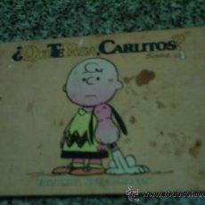 Cómics: CARLITOS Y SNOOPY (QUÉ TE PASA CARLITOS?), POR SCHULZ - Nº 4 - EDIT. NUEVA IMAGEN - MÉXICO - 1979. Lote 24694736