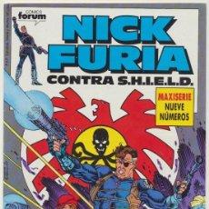 Comics : NICK FURIA CONTRA S.H.I.E.L.D. 9 NUMEROS COLECCION COMPLETA EDITORIAL FORUM. Lote 29183190